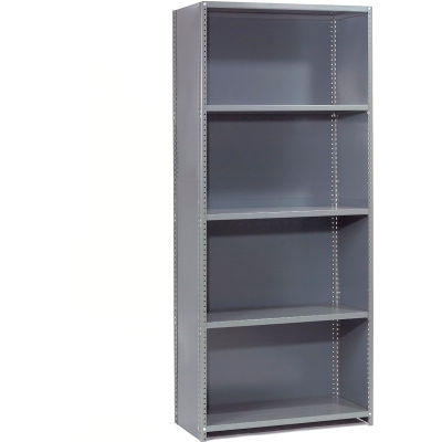 "Global Industrial™ Steel Shelving 20 Ga 36""Wx12""Dx85""H Closed Clip Style 5 Shelf Starter"
