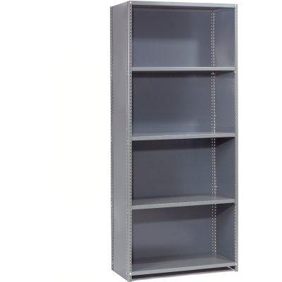 "Global Industrial™ Steel Shelving 20 Ga 36""Wx18""Dx85""H Closed Clip Style 5 Shelf Starter"