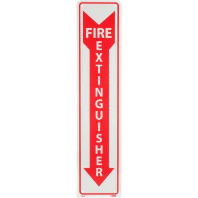 Fire Extinguisher Sign - Vertical - Plastic Glow