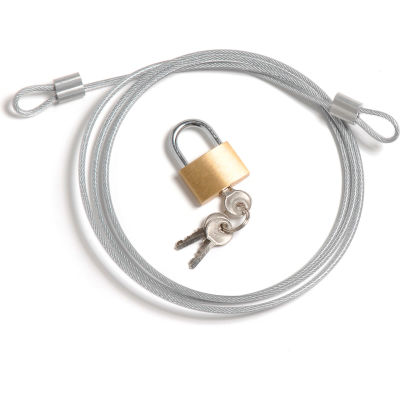 Global Industrial™ Security Cable Kit - Inclut le cadenas de câble et 3 clés