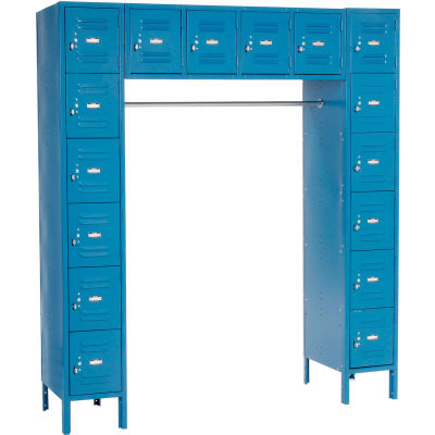 "Global Industrial™ Infinity® 16 Person Locker, 12""Wx18""Dx12""H, Blue, Partially Assembled"