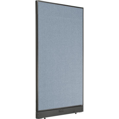 """Interion® Electric Office Partition Panel, 36-1/4""""W x 64""""H, Blue"""