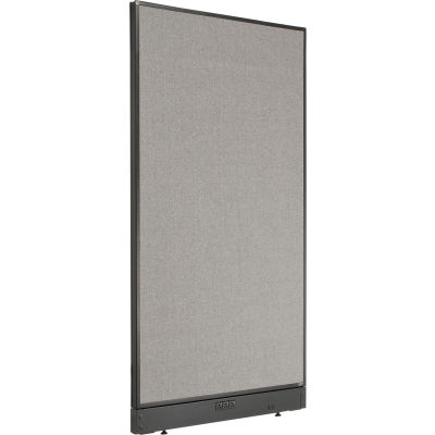 """Interion® Electric Office Partition Panel, 36-1/4""""W x 64""""H, Gray"""