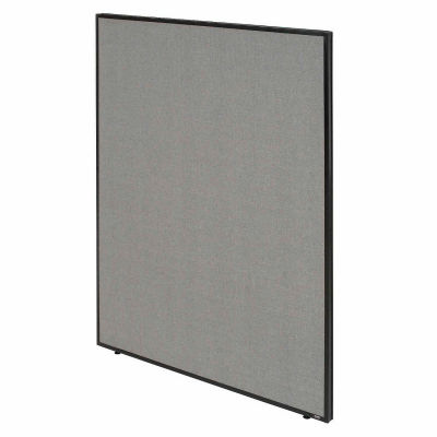 """Interion® Office Partition Panel, 36-1/4""""W x 72""""H, Gray"""