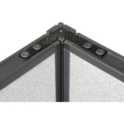 "Interion® 90 Degree Corner Connector Kit For 64"" H Panel With 1 Pass Through Cable"