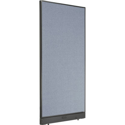 """Interion® Electric Office Partition Panel, 36-1/4""""W x 76""""H, Blue"""