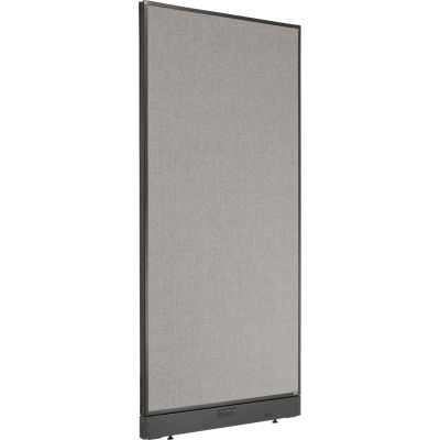 """Interion® Electric Office Partition Panel, 36-1/4""""W x 76""""H, Gray"""