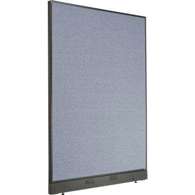 """Interion® Electric Office Partition Panel, 48-1/4""""W x 64""""H, Blue"""