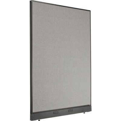 "Interion® Electric Office Partition Panel, 48-1/4""W x 64""H, Gray"
