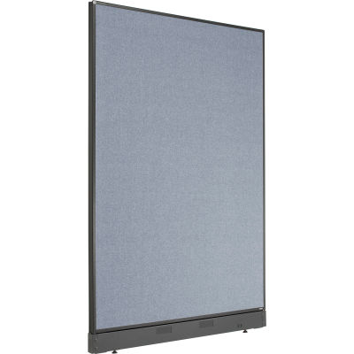 """Interion® Non-Electric Office Partition Panel with Raceway, 48-1/4""""W x 64""""H, Blue"""