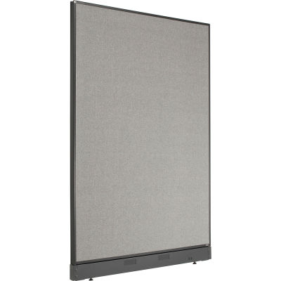 """Interion® Office Partition Panel with Pass-Thru Cable, 48-1/4""""W x 64""""H, Gray"""