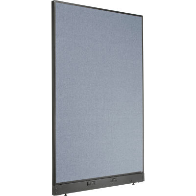 "Interion® Electric Office Partition Panel, 48-1/4""W x 76""H, Blue"