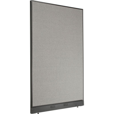 "Interion® Electric Office Partition Panel, 48-1/4""W x 76""H, Gray"