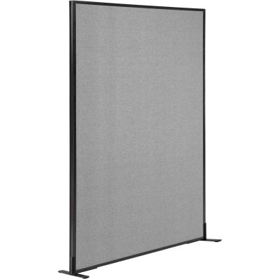 "Interion® Freestanding Office Partition Panel, 48-1/4""W x 72""H, Gray"