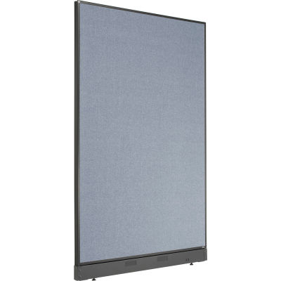 """Interion® Office Partition Panel with Pass-Thru Cable, 48-1/4""""W x 76""""H, Blue"""
