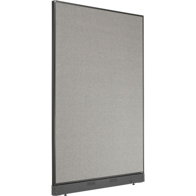 """Interion® Office Partition Panel with Pass-Thru Cable, 48-1/4""""W x 76""""H, Gray"""
