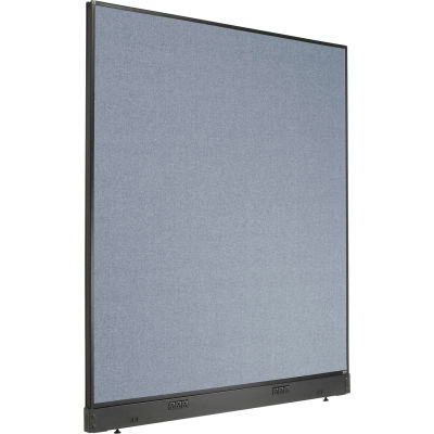 """Interion® Electric Office Partition Panel, 60-1/4""""W x 64""""H, Blue"""