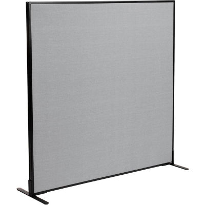 "Interion® Freestanding Office Partition Panel, 60-1/4""W x 60""H, Gray"