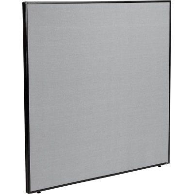 """Interion® Office Partition Panel, 60-1/4""""W x 60""""H, Gray"""