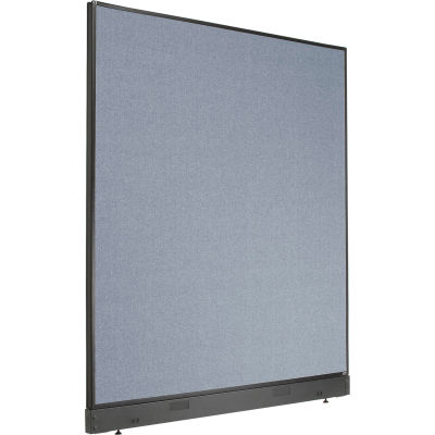 "Interion® Non-Electric Office Partition Panel with Raceway, 60-1/4""W x 64""H, Blue"