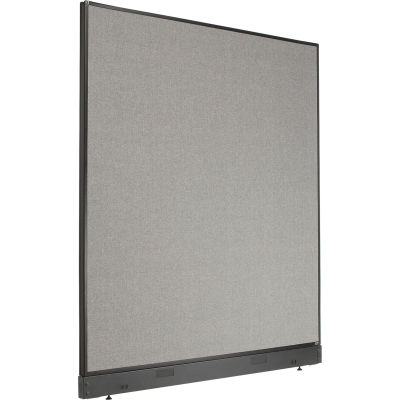 "Interion® Office Partition Panel with Pass-Thru Cable, 60-1/4""W x 64""H, Gray"