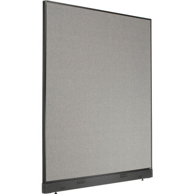 """Interion® Electric Office Partition Panel, 60-1/4""""W x 76""""H, Gray"""
