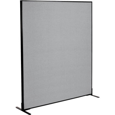 "Interion® Freestanding Office Partition Panel, 60-1/4""W x 72""H, Gray"