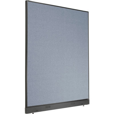 """Interion® Non-Electric Office Partition Panel with Raceway, 60-1/4""""W x 76""""H, Blue"""