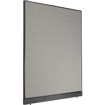 """Interion® Non-Electric Office Partition Panel with Raceway, 60-1/4""""W x 76""""H, Gray"""