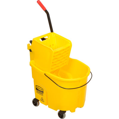Rubbermaid WaveBrake® 2.0 Mop Bucket & Wringer Combo w/Side Press, 35 Qt. 7580-88