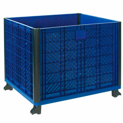 "Global Industrial™ Easy Assembly Solid Wall Bulk Container 39-1/4""L x 31-1/2""W x 29""H Overall"