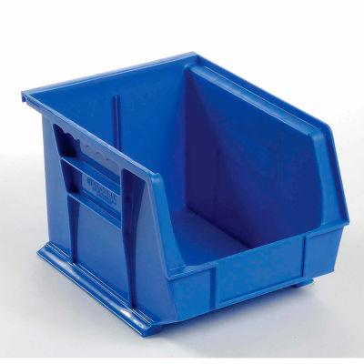 "Global Industrial™ Plastic Stack & Hang Bin, 8-1/4""W x 10-3/4""D x 7""H, Blue - Pkg Qty 6"