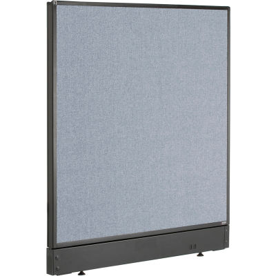 "Interion® Non-Electric Office Partition Panel with Raceway, 36-1/4""W x 46""H, Blue"