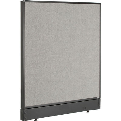 """Interion® Non-Electric Office Partition Panel with Raceway, 36-1/4""""W x 46""""H, Gray"""