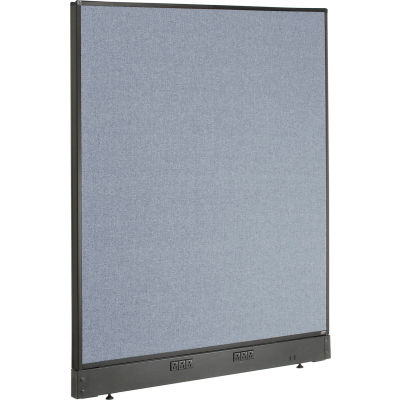 "Interion® Electric Office Partition Panel, 48-1/4""W x 46""H, Blue"