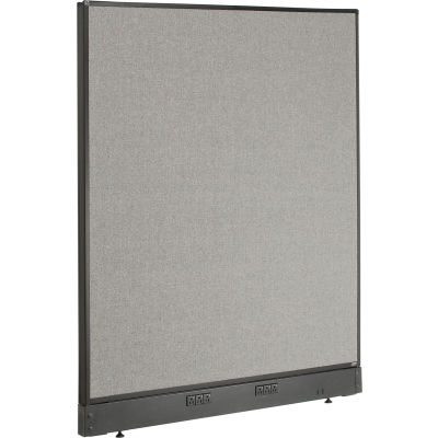 "Interion® Electric Office Partition Panel, 48-1/4""W x 46""H, Gray"