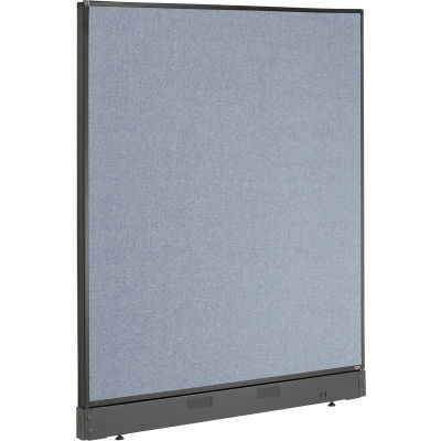 "Interion® Non-Electric Office Partition Panel with Raceway, 48-1/4""W x 46""H, Blue"