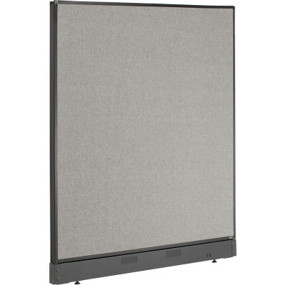 """Interion® Non-Electric Office Partition Panel with Raceway, 48-1/4""""W x 46""""H, Gray"""