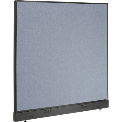 "Interion® Electric Office Partition Panel, 60-1/4""W x 46""H, Blue"