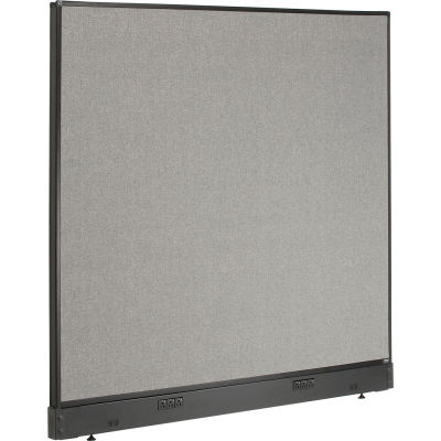 """Interion® Electric Office Partition Panel, 60-1/4""""W x 46""""H, Gray"""