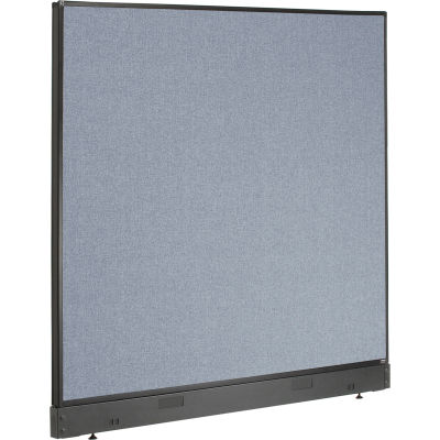 """Interion® Office Partition Panel with Pass-Thru Cable, 60-1/4""""W x 46""""H, Blue"""