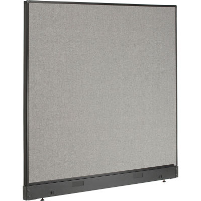 "Interion® Non-Electric Office Partition Panel with Raceway, 60-1/4""W x 46""H, Gray"