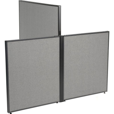 "Interion® Low-High 3 Way For Two 60"" Low Panel"