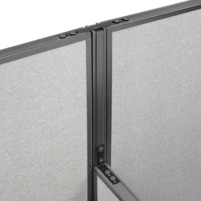 """Interion® High-Low Three Way Kit For Two 64"""" High Panel With Cable"""