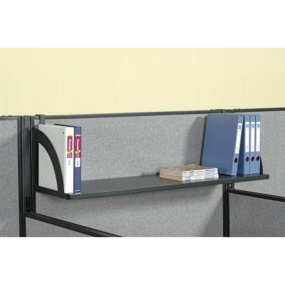 "Interion® Hanging Shelf For 60""W Panel - Black"