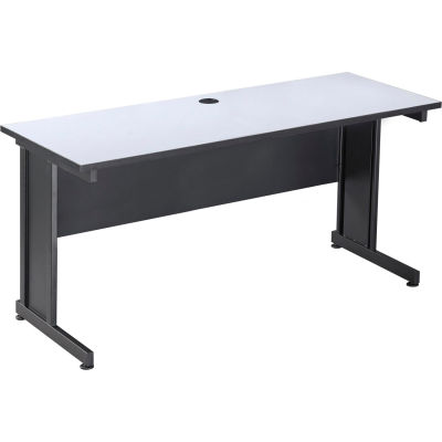 "Interion® 60"" Desk, Gray, Unassembled"