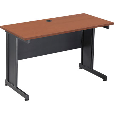 """Interion® Rectangle Desk With Cherry Finish, 72"""", Unassembled"""