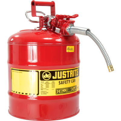 """Justrite® Type II Safety Can - 5 Gallon with 5/8"""" Hose, 7250120"""