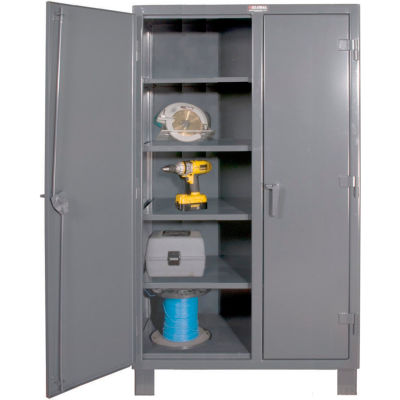 "Durham Heavy Duty Double Shift Storage Cabinet HDDS243678-8S95 - 12 Gauge 36""W x 24""D x 78""H"