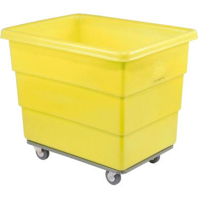 Dandux Yellow Plastic Box Truck 51116014Y-4S 14 Bushel Heavy Duty